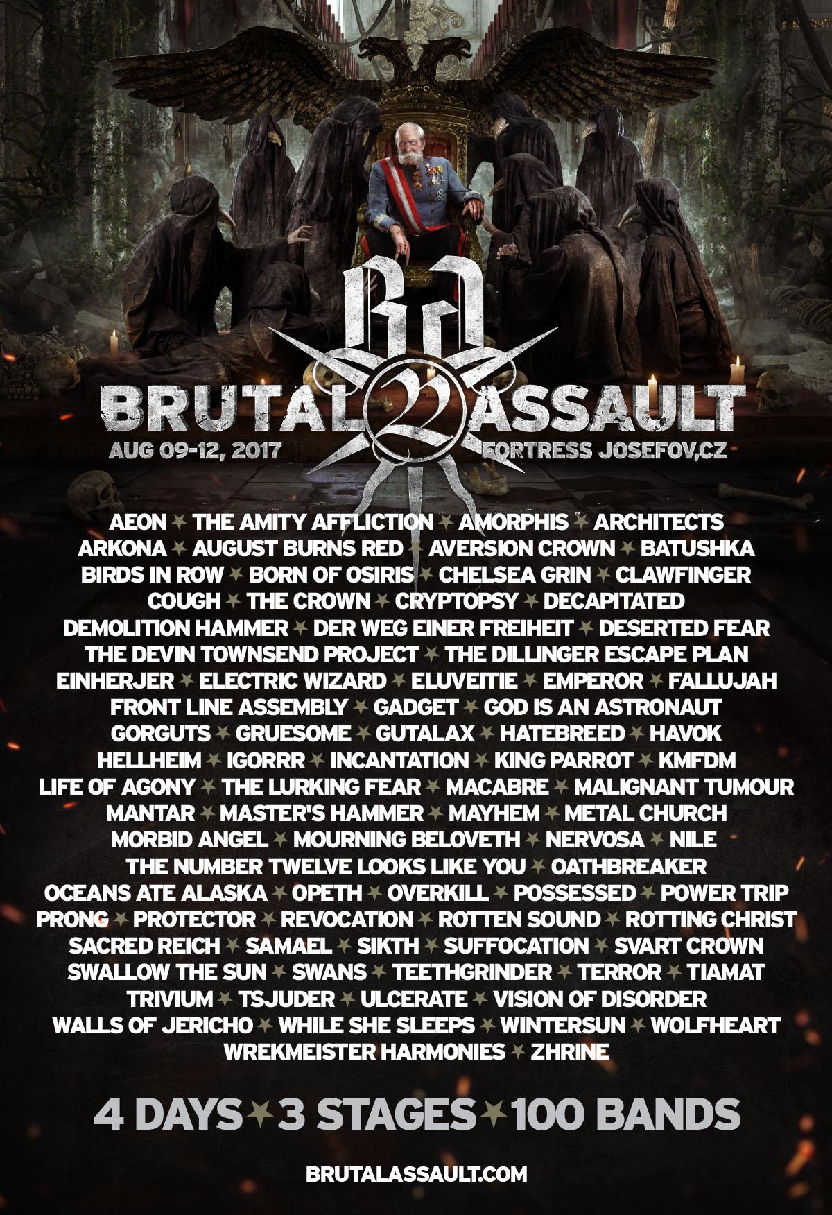 3 months left! Brutal Assault, August 9 - 12, 2017