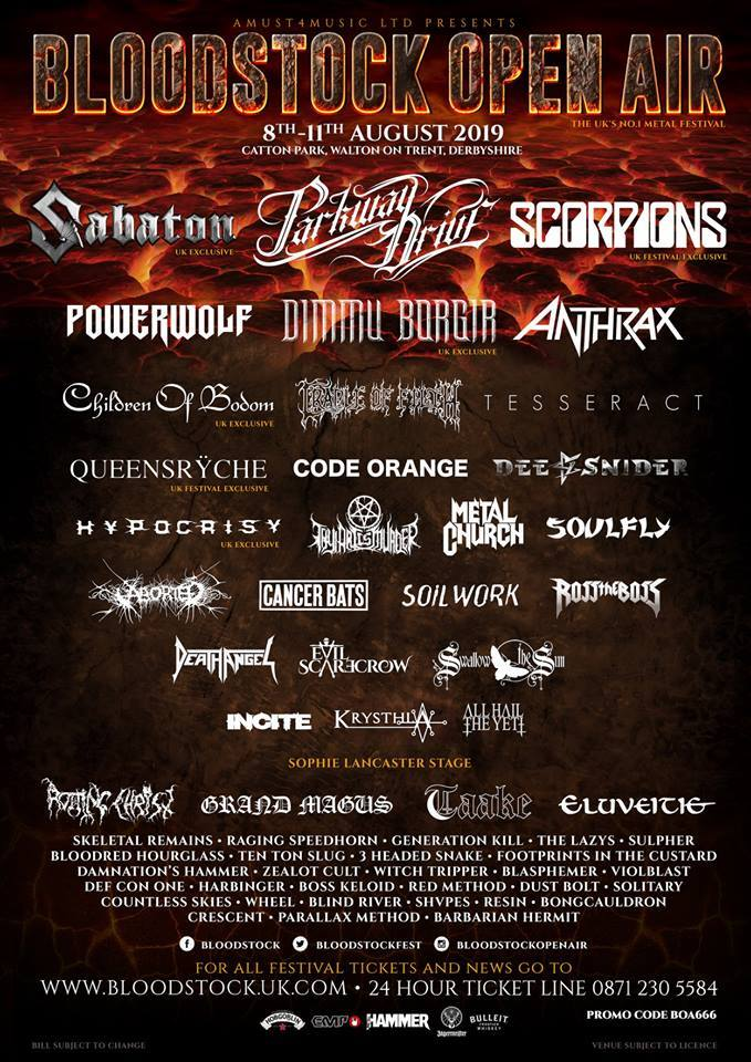 Countdown To Bloodstock Open Air 2019
