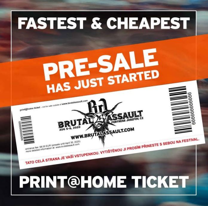 Presale for the 25th Brutal Assault anniversary opened