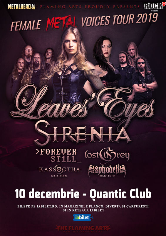 Leaves' Eyes and Sirenia Live At Quantic Club-Bucharest